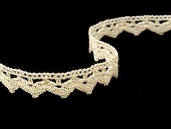 Cotton bobbin lace 75207, width 14 mm, ecru - 4
