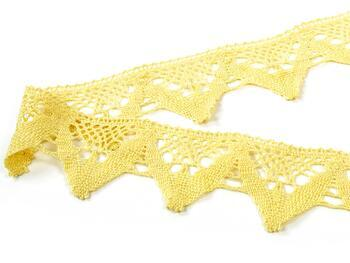 Paličkovaná krajka 75221 bavlněná, šířka 65 mm, světle žlutá - 4