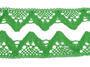 Paličkovaná krajka vzor 75221 trávová zelená   30 m - 4/4