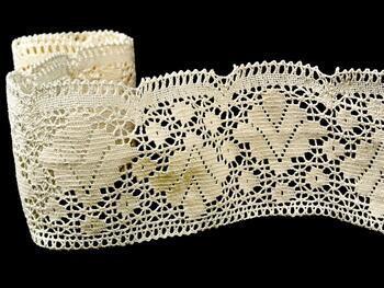 Cotton bobbin lace 75224, width 100 mm, ecru - 4