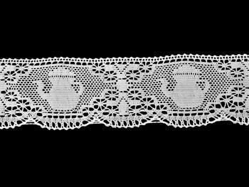 Paličkovaná krajka 75226 bavlněná, šířka 108 mm, bílá - 4