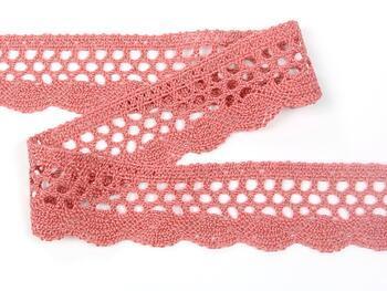 Cotton bobbin lace 75231, width 40 mm, rose - 4