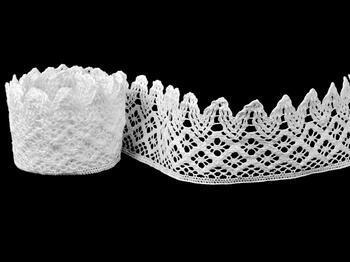 Cotton bobbin lace 75234, width 54 mm, white - 4