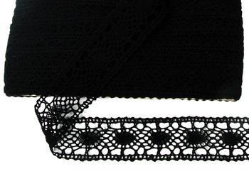 Paličkovaná vsadka vzor 75235 černá | 30 m - 4