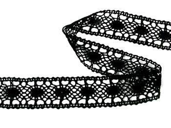 Paličkovaná vsadka 75235 bavlněná, šířka43 mm, černá - 4