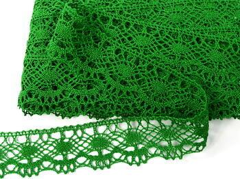 Paličkovaná krajka vzor 75238 trávová zelená | 30 m - 4