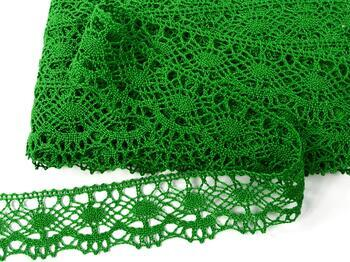 Cotton bobbin lace 75238, width 51 mm, grass green - 4