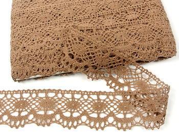 Bobbin lace No. 75238 dark beige | 30 m - 4