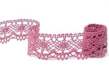 Cotton bobbin lace 75238, width 51 mm, pink - 4