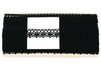 Paličkovaná krajka 75239 bavlněná, šířka 19 mm, černá - 4