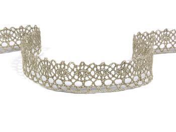 Linen bobbin lace 75239, width 19 mm, 100% linen natural - 4