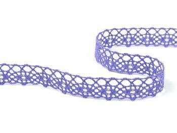 Cotton bobbin lace 75244, width 16 mm, purple II - 4