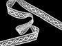 Cotton bobbin lace insert 75250, width31mm, white - 4/5