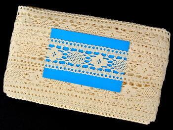 Paličkovaná vsadka vzor 75254 režná | 30 m - 4