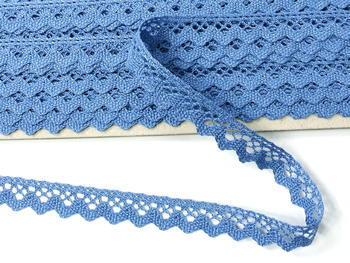 Paličkovaná krajka vzor 75259 blankytně modrá | 30 m - 4