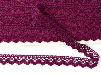 Paličkovaná krajka vzor 75259 fialová   30 m - 4