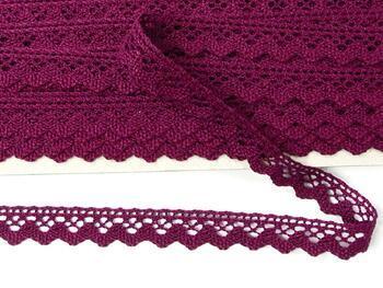 Cotton bobbin lace 75259, width 17 mm, violet - 4