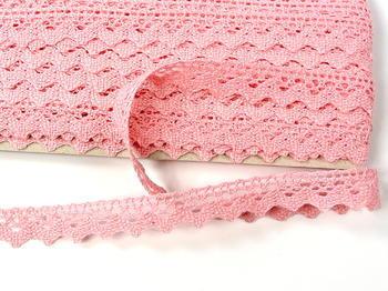 Paličkovaná krajka vzor 75259 růžová | 30 m - 4