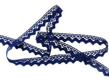 Cotton bobbin lace 75259, width 17 mm, black blue - 4