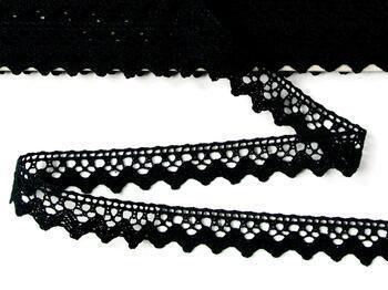 Paličkovaná krajka 75259 bavlněná, šířka17 mm, černá - 4