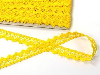 Cotton bobbin lace 75259, width 17 mm, yellow - 4