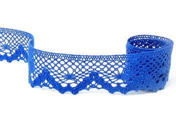 Paličkovaná krajka vzor 75261 královská modrá | 30 m - 4