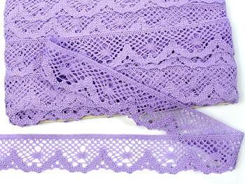 Paličkovaná krajka vzor 75261 purpurová III. | 30 m - 4