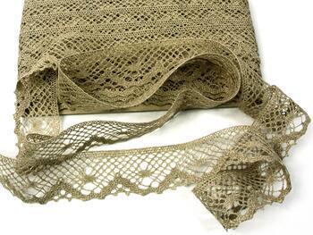 Linen bobbin lace 75261, width 40 mm, 100% linen natural - 4