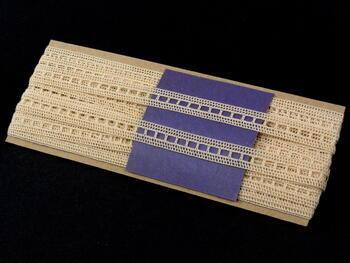 Paličkovaná vsadka vzor 75266 režná | 30 m - 4