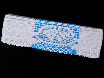 Paličkovaná krajka vzor 75272 bílá | 30 m - 4