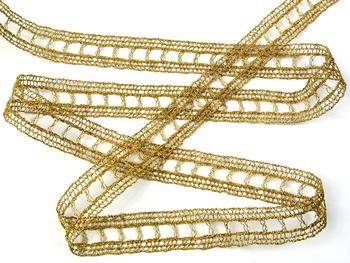 Paličkovaná vsadka vzor 75281 zlatá| 30 m - 4