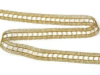 Metalic bobbin lace insert 75281, width18mm, Lurex gold - 4