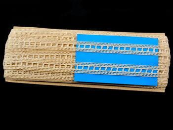 Paličkovaná vsadka vzor 75281 režná | 30 m - 4