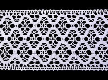 Paličkovaná vsadka vzor 75291 bílá | 30 m - 4