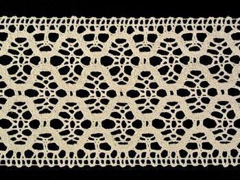 Cotton bobbin lace insert 75291, width30 mm, ecru - 4