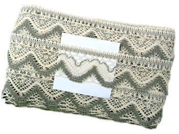 Bobbin lace No. 75301 ecru/dark linen | 30 m - 4