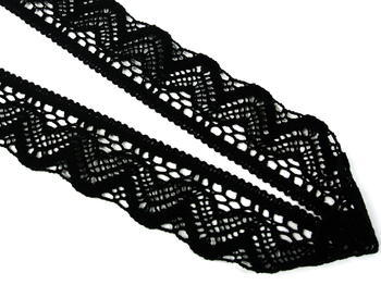 Bobbin lace No. 75301 black | 30 m - 4