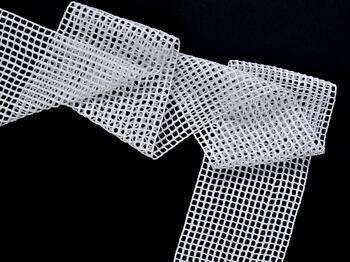 Cotton bobbin lace insert 75326, width125mm, white - 4