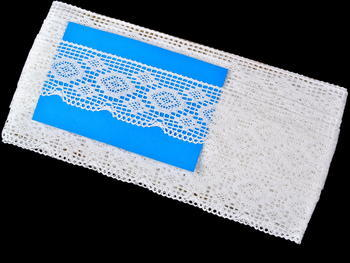 Bobbin lace No. 75332 white | 30 m - 4