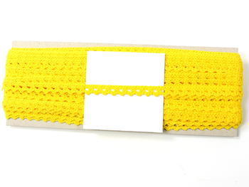 Bobbin lace No. 75361 yellow | 30 m - 4