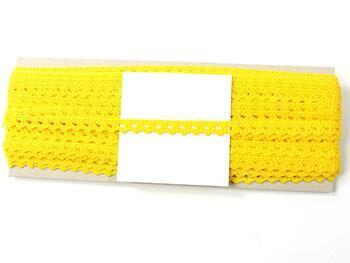 Paličkovaná krajka 75361 bavlněná, šířka9 mm, žlutá - 4