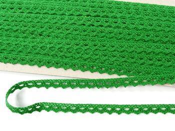 Paličkovaná krajka 75361 bavlněná, šířka9 mm, trávová zelená - 4
