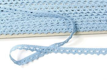 Cotton bobbin lace 75361, width 9 mm, light blue - 4