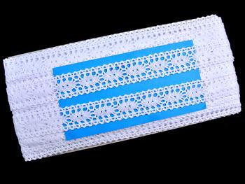 Paličkovaná vsadka vzor 75393 bílá | 30 m - 4