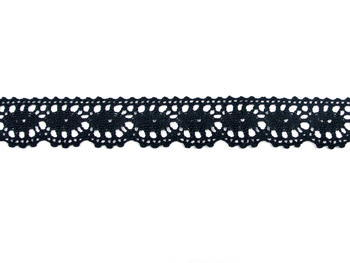 Bobbin lace No. 75394 black | 30 m - 4