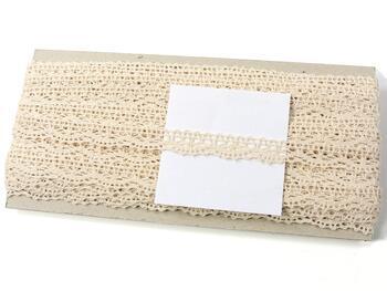 Cotton bobbin lace 75395, width 16 mm, light cream - 4