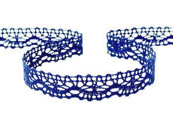 Cotton bobbin lace 75395, width 16 mm, dark blue - 4