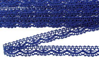 Paličkovaná krajka vzor 75395 tmavě modrá | 30 m - 4