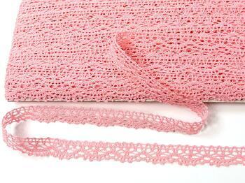 Paličkovaná krajka 75395 bavlněná, šířka16 mm, růžová - 4