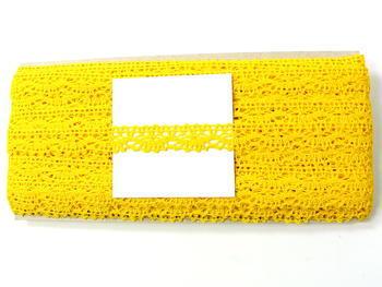Paličkovaná krajka vzor 75395 žlutá | 30 m - 4